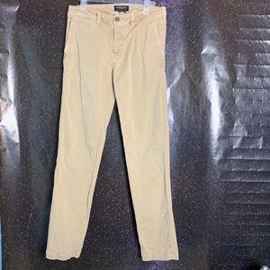 American Eagle-Khaki Slim Straight Leg Pants 30x34